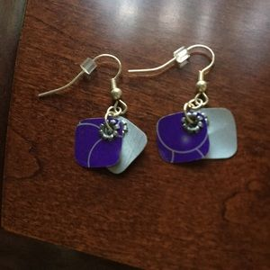 Jewelry - 3/$18 🌸 Purple hand crafted soda can earrings